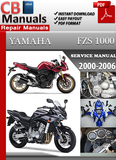 yamaha fzs 1000 2000 2006 service repair manual. Black Bedroom Furniture Sets. Home Design Ideas