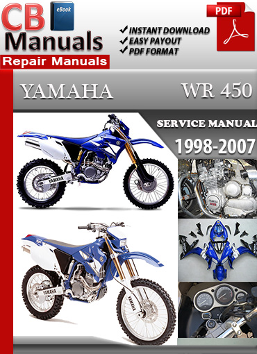 yamaha wr 450 1998 2007 shop manual technical repair manuals. Black Bedroom Furniture Sets. Home Design Ideas
