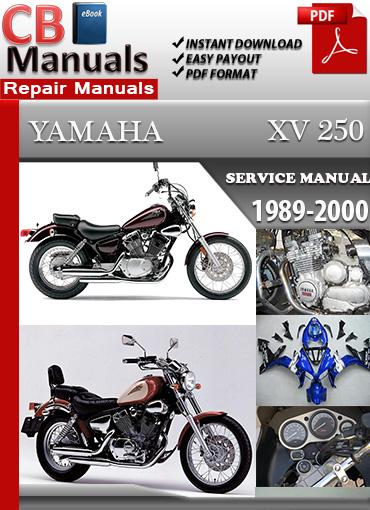 yamaha xv 250 1989 2000 service repair manual technical. Black Bedroom Furniture Sets. Home Design Ideas